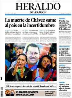 Los Titulares y Portadas de Noticias Destacadas Españolas del 6 de Marzo de 2013 del Diario Heraldo de Aragon ¿Que le pareció esta Portada de este Diario Español?