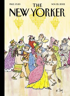 "The New Yorker - Monday, November 25, 2002 - Issue # 4007 - Vol. 78 - N° 36 - Cover ""Masquerade"" by William Steig"