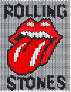Rolling Stones Bead Pattern | Peyote Bead Patterns | Misc Bead Patterns