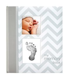 Pearhead Chevron Baby Memory Book with an Included Clean-Touch Ink Pad to Create Baby& Handprint or Footprint, Grey Chevron Gris, Blue Chevron, Blue Dots, Aqua Blue, Baby Shower Gifts, Baby Gifts, Kids Gifts, Baby Journal, Journal Record