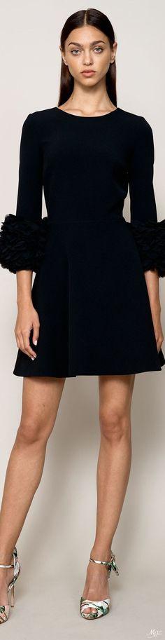 @roressclothes clothing ideas #women fashion black dress Resort 2018 Badgley Mischka