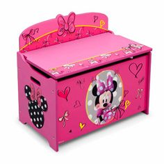 Are you looking for a solid and easy to assemble Minnie Mouse toy box that can hold lots of toys? A toy box specially designed for little Minnie Mouse fans? Girls Toy Box, Toys For Girls, Kids Toys, Children's Toys, Baby Girls, Toy Boxes For Sale, Kids Toy Boxes, Toy Storage Bench, Kids Storage