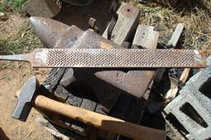Making a Large camp knife from an old rasp. Part 1