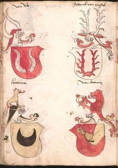 Wernigeroder (Schaffhausensches) Wappenbuch Süddeutschland, 4. Viertel 15. Jh. Cod.icon. 308 n  Folio 218v