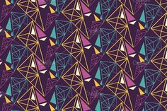 Colorful geometric seamless pattern by kio on @creativemarket