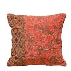 Vintage Square Cushion Kussenhoes inclusief vulling - Louis De Poortere Orange