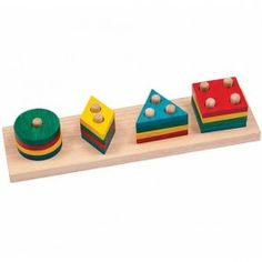 1 to 4 Number and Shape Sorter Smart Toy $23.97 This wooden stacking numbers toy for toddlers brings together the perfect combination of education and entertainment! http://www.educationaltoysplanet.com/one-to-four-number-and-shape-sorter.html
