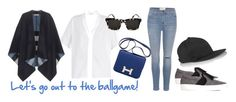 """""""Let's go out to the ballgame!"""" by freschstyle ❤ liked on Polyvore featuring мода, Rick Owens, Current/Elliott, ADAM, Lanvin, Prism, Hermès и Burberry"""