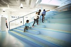 Stockholm's School Without Classrooms  archetizer asiento escaleras escuela