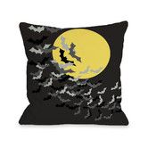 Found it at Wayfair - Flock of Bats Moon Polyester Throw Pillow