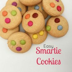 I bet you didn't know they were easy to make? Well, they are! I hope your kids love these cookies just as much as mine and manage to eat more than the Smarties Plain Biscuit Recipe, Biscuit Recipe For Kids, Biscuit Recipes Uk, Smartie Cookies, Smarties Recipes, Gingerbread Cookies, Christmas Cookies, Cake Stall