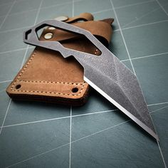 A handmade skeleton knife come with leather sheath. Model - the Scorpion Blade Material - Böhler K110 steel, 60 HRC Overall Length - 6.5 (165 mm.) Edge Length - 2.625 (66.5 mm.) Blade Thickness - 0.157 (4 mm.) Finish - Stonewash Weight - 2.4 oz. (70 g.) ***Not razor sharp or scary sharp,