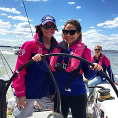 That's me with Sara, one of the Team SCA sailors who's been racing for nearly 9-months around the world.