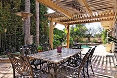 modern terrace roofing ideas wooden structure hearth
