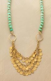 CHRYSOPRASE PAILLETTE NECKLACE