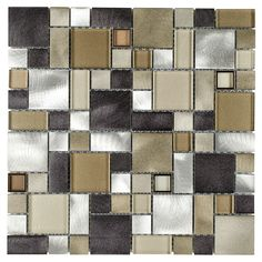 Aspect Peel Amp Stick Metal Backsplash Matted Square At
