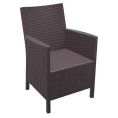 Compamia California Resin Wicker Chair with Optional Cushion - Set of 2 - Walmart.com - $259