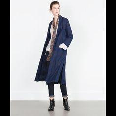 Zara Denim Kimono Jacket Zara Denim Kimono Long Cardigan Jacket. One size. 100% Cotton. Zara Jackets & Coats