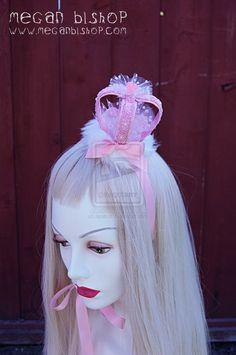 Pink Lolita Crown by apatico.deviantart.com on @deviantART