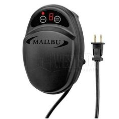 Malibu Lighting ML100THB (8100-9100-01) Low Volta100-Watt Power Pack & Timer by Malibu Lighting. $34.95. The Malibu Lighting Low Voltage 100-Watt Power Pack & Timer (ML100THB) provides safe low voltage 12-volt power for your landscape lighting setup. This plug in power pack with multiple On Off timer for use with Malibu low voltage lighting, converts 120V AC to 12V AC. Features electronic and adjustable light sensors for dusk to dawn operations, timed OFF settings, dusk ON, or ...