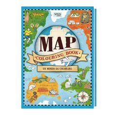 #Sassi Junior - Sassi Science: Map Colouring Book. Un Mondo da Colorare - Atlante di 52 pagine. #ecologia #libro #gioco