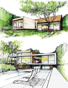 Architectural sketches by Reich und Wamser #reichundwamser #architecture #architecturalsketch #archisketch #sketch #workinprogress #landscapearchitecture