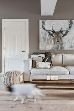 A scandinavian interior, natural color and material to create a warm, elegant and welcoming space