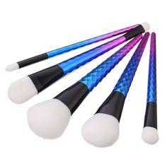 5pcs Dazzle Color Ultra Soft Makeup Brushes Kit Set BB Cream Eye Shadow Blush Powder Cosmetic Tools