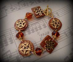 Celtic pentacle bracelet by Cronesmagicalcrafts    fashion