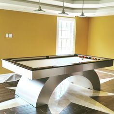 Custom Made 8ft Arched Pool Table With Led Lights !