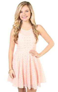 all over lace with illusion accent a line dress $36.50