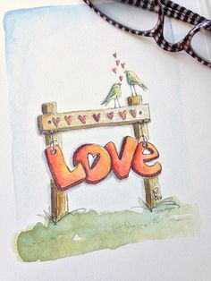 Love birds - Elvie Studio - by Lori Vliegen Doodle Art Journals, Art Journal Pages, Art Journaling, Art Sketches, Art Drawings, Bullet Journal Quotes, Drawing Quotes, Learn To Sketch, Bible Art