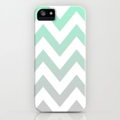 MINT GRAY CHEVRON FADE iPhone Case by nataliesales - $35.00