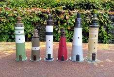 Mini Houses, Wooden Houses, Lighthouse, Upcycle, Miniatures, Photo And Video, Instagram, Home Decor, Wood Cabins