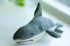 Shark Stuffed Toy by Leikey on Etsy, $20.00