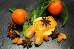 winter spa with spices and clementine