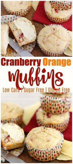 low carb cranberry orange muffins