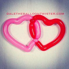 New 2-balloon intertwined heart design.
