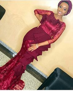 50+ Sophisticated and amazing lace styles to rock - Stylish Naija Nigerian Lace Styles, African Lace Styles, African Lace Dresses, African Dresses For Women, African Attire, African Inspired Fashion, Latest African Fashion Dresses, African Print Fashion, African Print Dress Designs