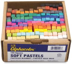 Alphacolor Soft Pastel Set - Basic Colors, Box of 144 Chalk Pastels, Soft Pastels, Mothers Day Crafts For Kids, Pastel Art, Typography Art, Art Techniques, Watercolor Techniques, Basic Colors, Art Studios