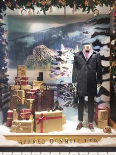 Alfred Dunhill Christmas Window Display (Vision Display Singapore)