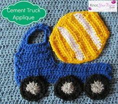 Cement Truck Applique pattern by Teri Heathcote