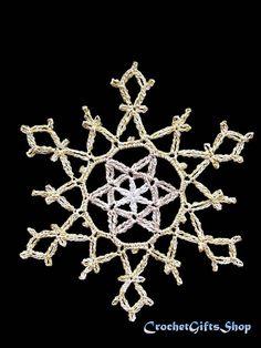 SALE crochet PATTERNS Christmas Snowflake Ornaments PDF
