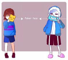Undertale Frisk and Sans- Pokerface