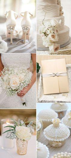 2017 neutral elegant ivory wedding color ideas