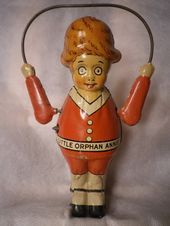 Items similar to Little Orphan Annie Tin Wind Up Toy Jump Rope Created By Harold Gray on Etsy. , via Etsy. Love Vintage, Vintage Tins, Vintage Dolls, Vintage Games, Metal Toys, Tin Toys, Toys In The Attic, Electronic Toys, Old Dolls