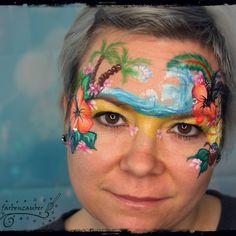 www.farbenzauber.eu Airbrush, Body Art, Carnival, Face, Face Paintings, Self, Kids Makeup, Bodypainting, Mardi Gras