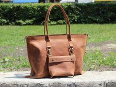 Genuine leather bag handmade leather bag women's by MenEvolution