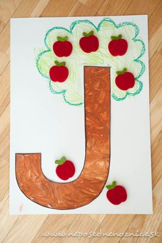 Ja ako jabloň Letter A Crafts, Lego Duplo, Games For Kids, Alphabet, Diy And Crafts, Letters, Teaching, Holiday Decor, Lego Duplo Table