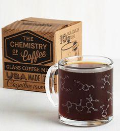 Glass chemistry mug
